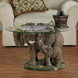 Elephant's Majesty Coffee Table Design Toscano
