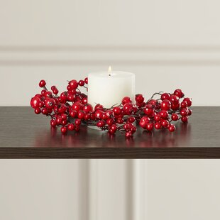 Faux Berry Candle Ring