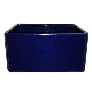 Reversible 20 L x 18 W Fireclay Kitchen Sink ByWhitehaus Collection