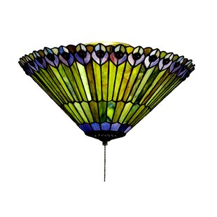 Meyda Tiffany Tiffany Jeweled Peacock 3-Light Flush Mount