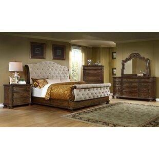 Scarlett King Sleigh 4 Piece Bedroom Set by DarHome Co 2019 Sale