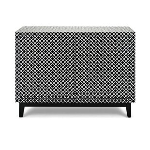 Wayde Contemporary Quatrefoil Patterned TV Stand