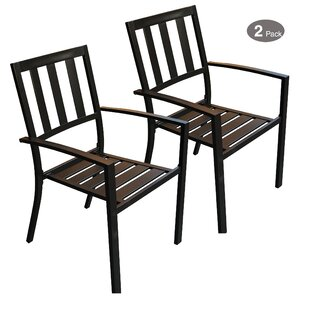 Sulgrave Stacking Patio Dining Chair (Set of 2)