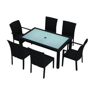 Azariah 7 Piece Sunbrella Dining Set