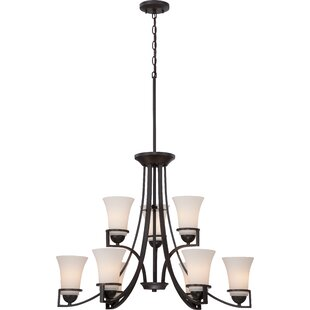 World Menagerie Collin 9-Light Shaded Chandelier