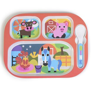 11  Melamine Farm Divided Plate  sc 1 st  Wayfair & Plastic Divided Plates | Wayfair