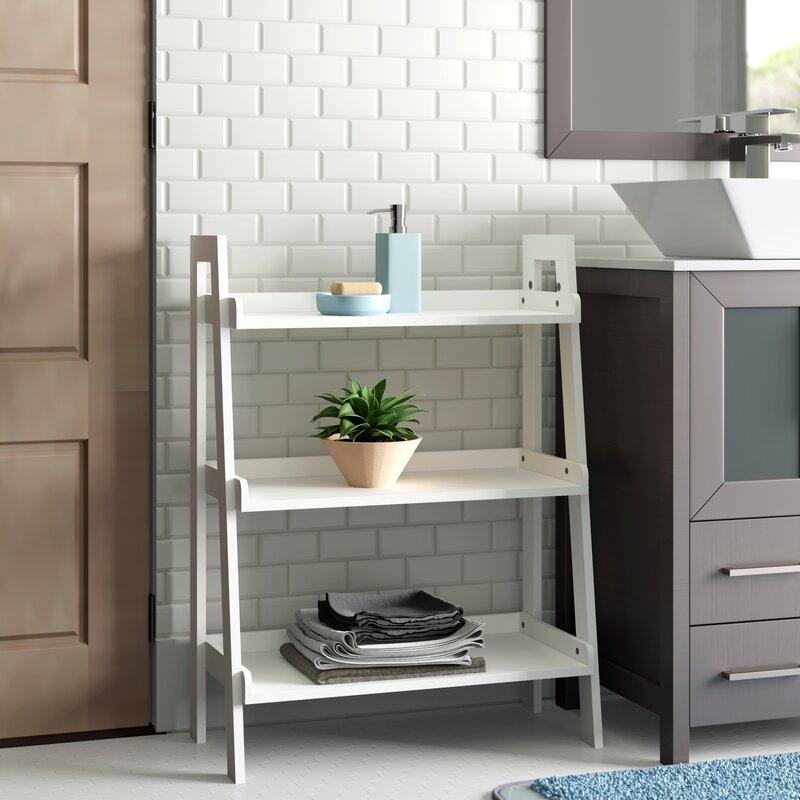 Zipcode Design Hoschton 24 W X 32 5 H X 11 5 D Free Standing Bathroom Shelf Reviews Wayfair