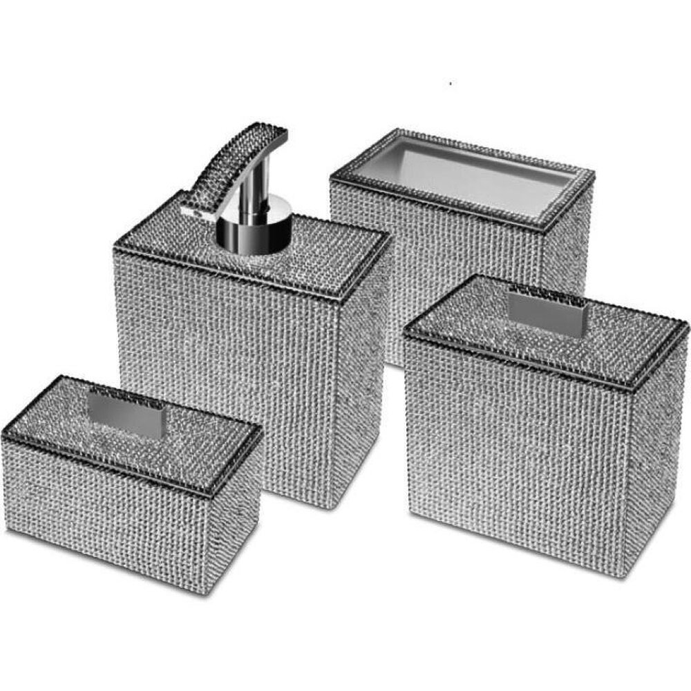 Rosdorf Park Patrice Square 4 Piece Bathroom Accessories Set Wayfair