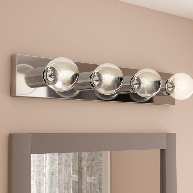 4 light bath bar wade logan foster 4light bath bar willa arlo interiors reviews wayfair