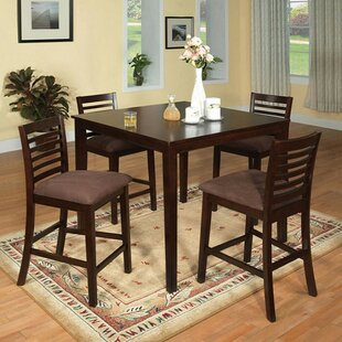 Feliciano Classy 5 Piece Counter Height Dining Table Set DarHome Co
