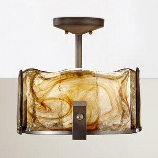 Orren Ellis Crane 3-Light Semi Flush Mount
