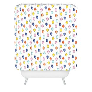 Little Arrow Design Co Watercolor Holiday Lights Single Shower Curtain