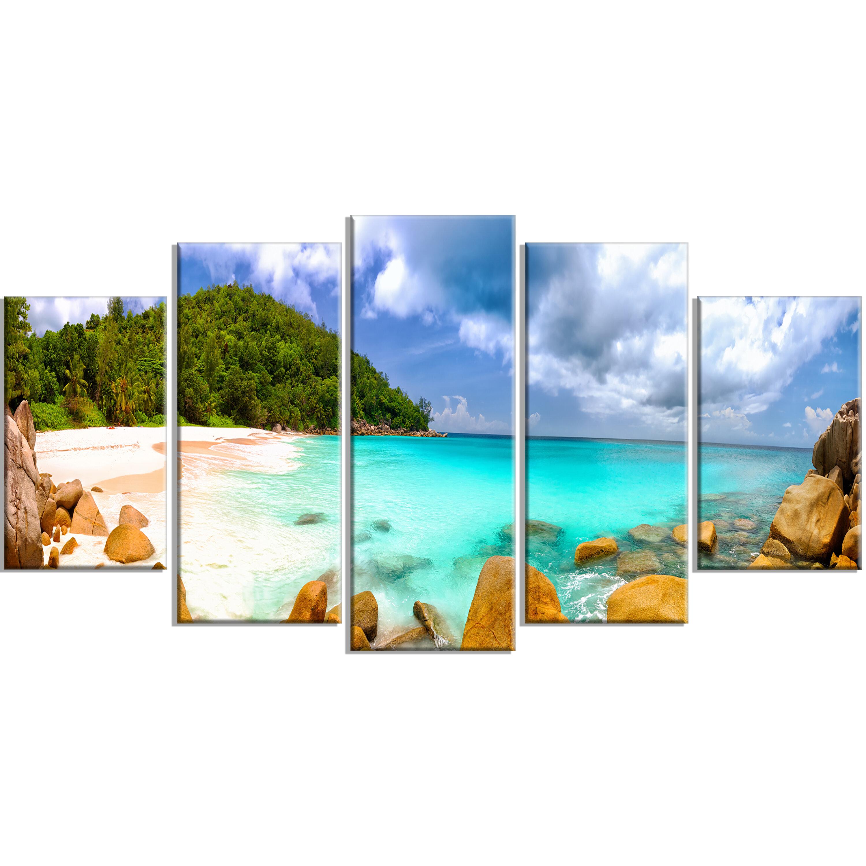 Picture Perfect InternationalOcean on The Rocks Framed Plexiglass Wall Art Set of 3