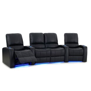 Leather Home Theater Loveseat (Row of 4)