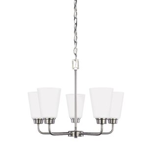 Red Barrel Studio Joan 5-Light Shaded Chandelier