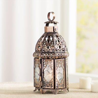 Bungalow Rose Coppery Moroccan Lantern & Reviews | Wayfair
