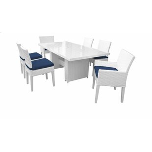 Miami 7 Piece Dining Set with Cushions