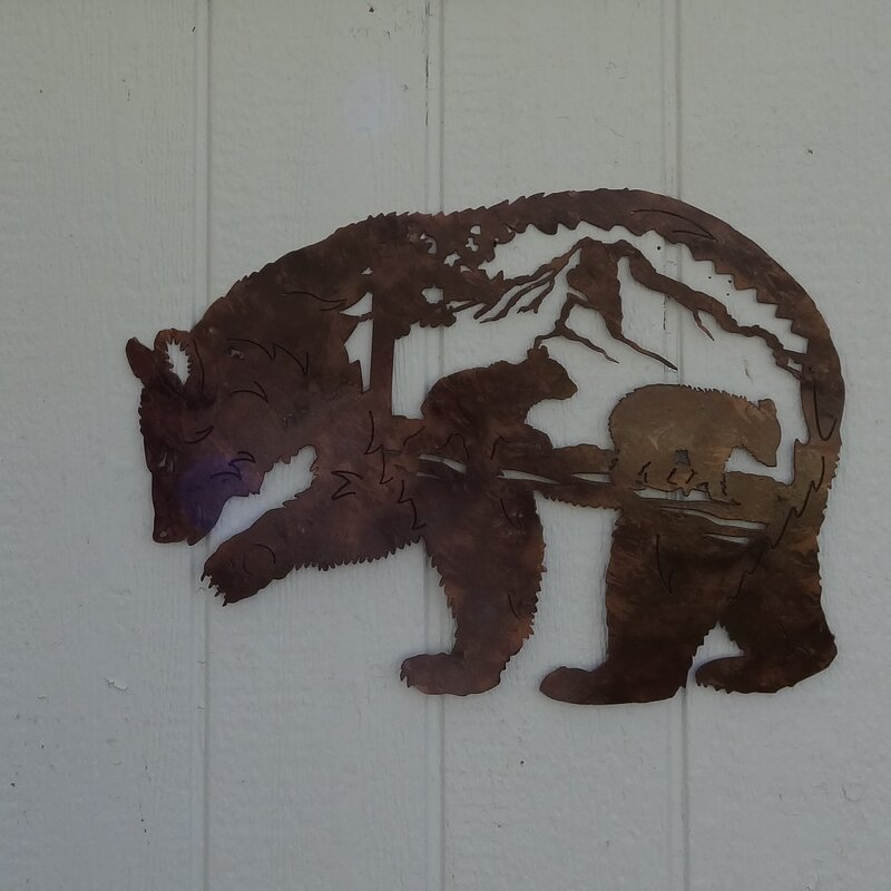 Say It All On The Wall Bear Mountain Scene Metal Wall Décor ...