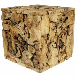 Loon Peak Hayes Wooden Natural Cedar Accent stool