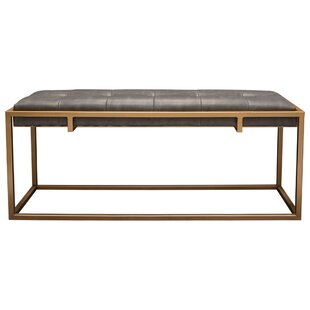 Babylon Faux Leather Bench