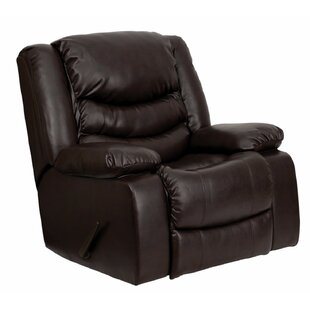 Hardrick Leather Manual Rocker Recliner by Red Barrel Studio