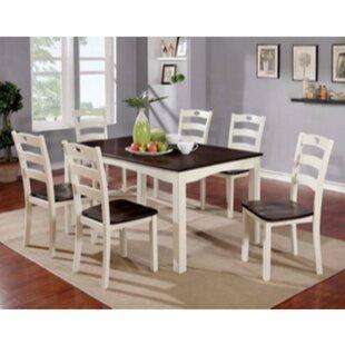 Valladares 7 Piece Solid Wood Dining Set