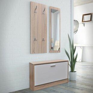 Check Price Wooden 3 Piece Hallway Set