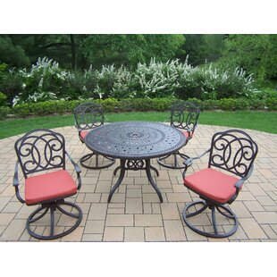 Oakland Living Berkley 5 Piece Dining Set with Cushions