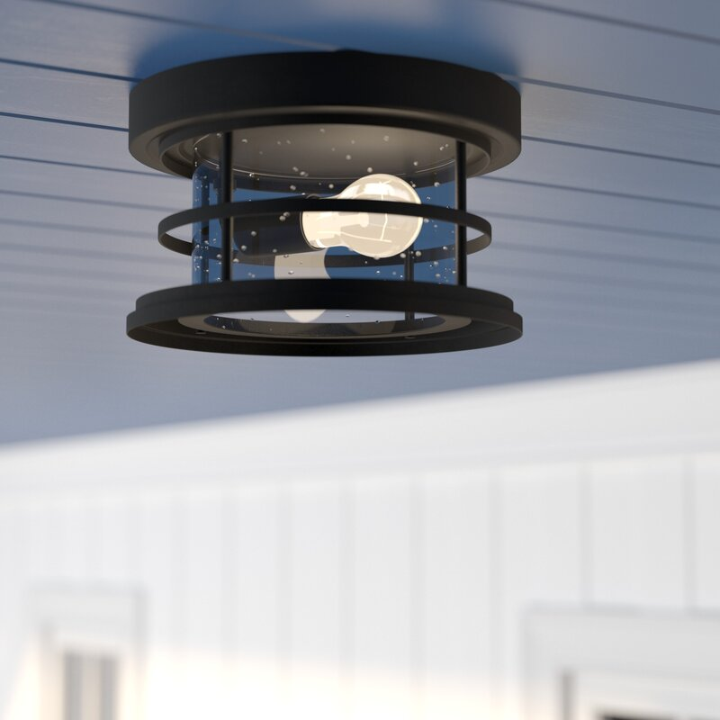 Beachcrest home abbotsford 1 light outdoor flush mount reviews abbotsford 1 light outdoor flush mount aloadofball Image collections