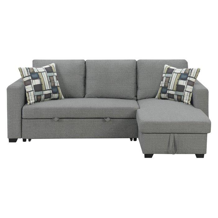 Wondrous Hendrick Pull Out Reversible Sleeper Sectional Inzonedesignstudio Interior Chair Design Inzonedesignstudiocom