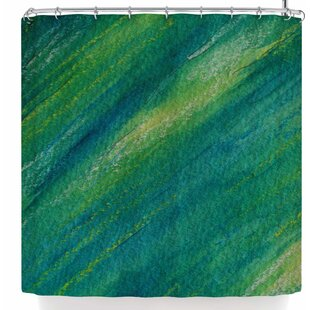 Cyndi Steen Phthalo Abstract Single Shower Curtain
