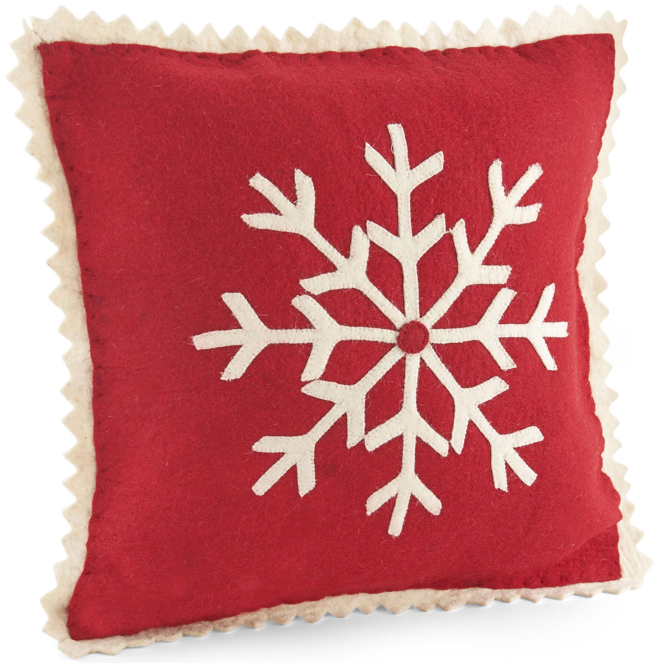 Arcadia Home Big Snowflake Wool Throw Pillow Cover Wayfair