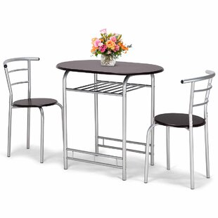 Lelia 3 Piece Breakfast Nook Dining Set