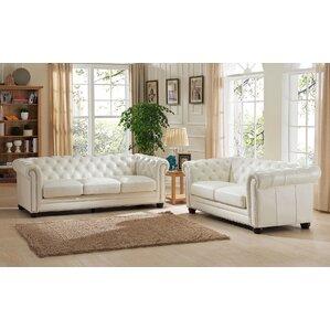 Nashville 2 Piece Leather Living Room Set by..