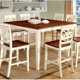 Izayah Counter Height Solid Wood Dining Table August Grove
