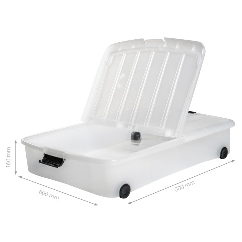 Plastic Underbed Storage Box  sc 1 st  Wayfair & IRIS Plastic Underbed Storage Box u0026 Reviews | Wayfair.co.uk