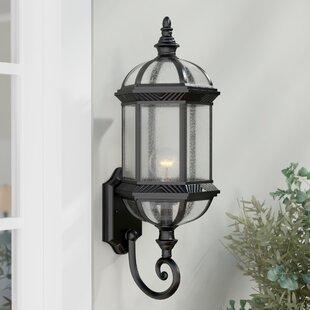 Three Posts Hausmann 1-Light Outdoor Wall lantern