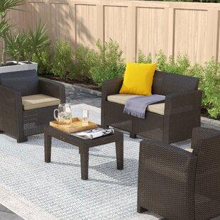Ameson 4 Seater Rattan Sofa Set By Zipcode Design