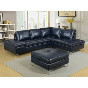 Orren Ellis Deon Sectional with Ottoman