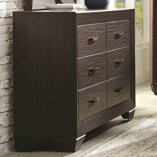 Westwood Wooden Transitional 6 Drawer Double Dresser