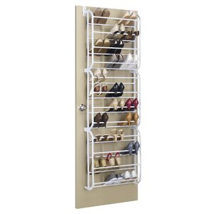 12-Tier 36 Pair Overdoor Shoe Organizer