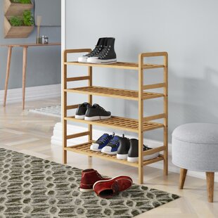 4 Tier Shoe Stand Rack By Rebrilliant