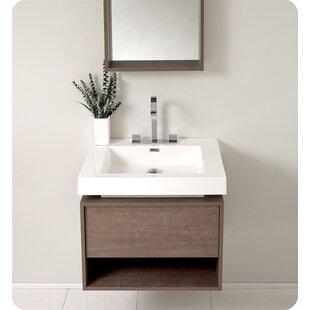 Senza Potenza 27 Single Bathroom Vanity Set with Mirror by Fresca