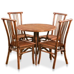 Arikara Dining Set With 4 Chairs By Bay Isle Home