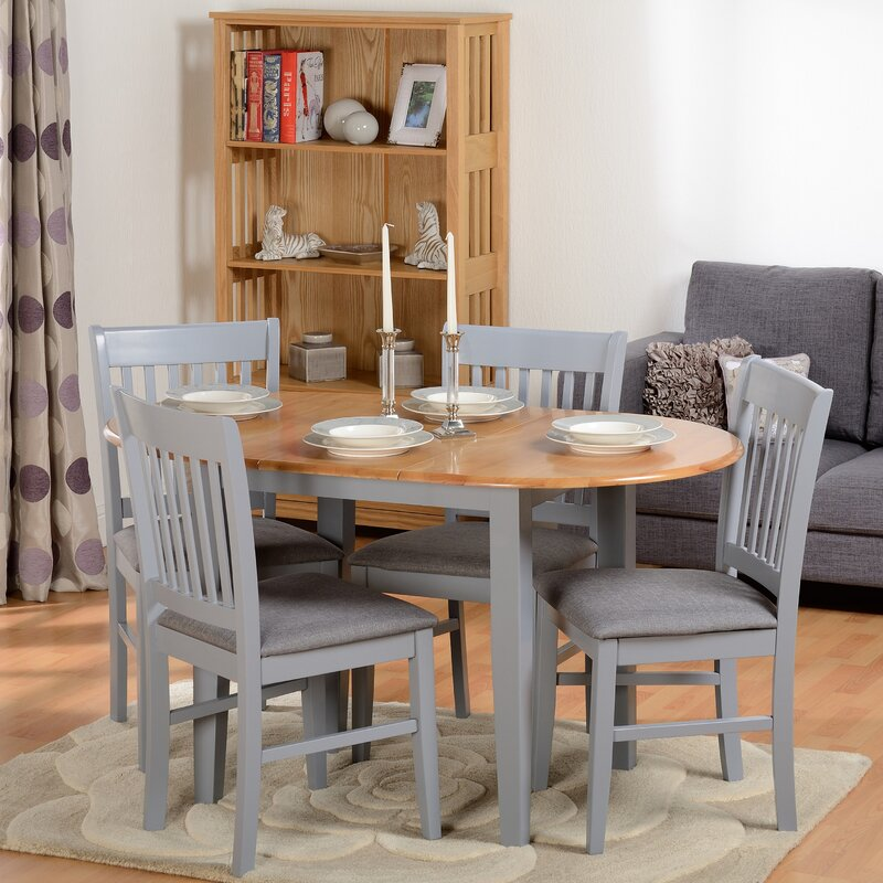 4 Chair Dining Sets august grove bouvet extendable dining set with 4 chairs & reviews