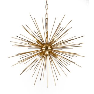 Corrigan Studio Kamila Iron Spike Fixture 6-Light Chandelier