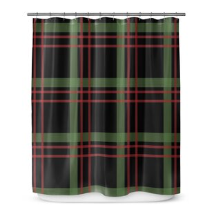 Christmas Plaid Single Shower Curtain