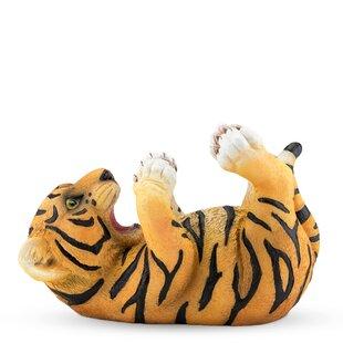 Polyresin Tipsy Tiger Tabletop Wine Bottl..
