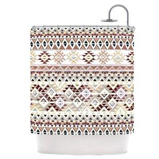 Best Tribal Native in Pastel Brown Shower Curtain ByEast Urban Home