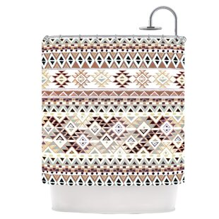 Tribal Native in Pastel Brown Single Shower Curtain
